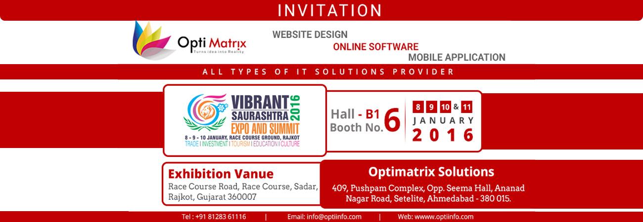 OptiMatrix at Vibrant Saurashtra Expo and Summit 2016