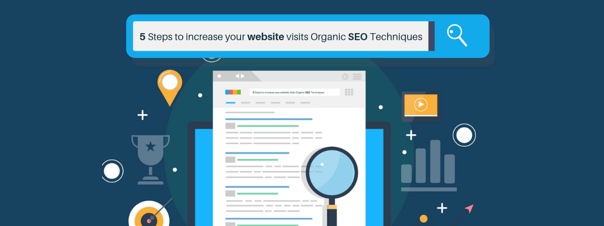 5 Steps to increase your website visits Organic SEO Techniques