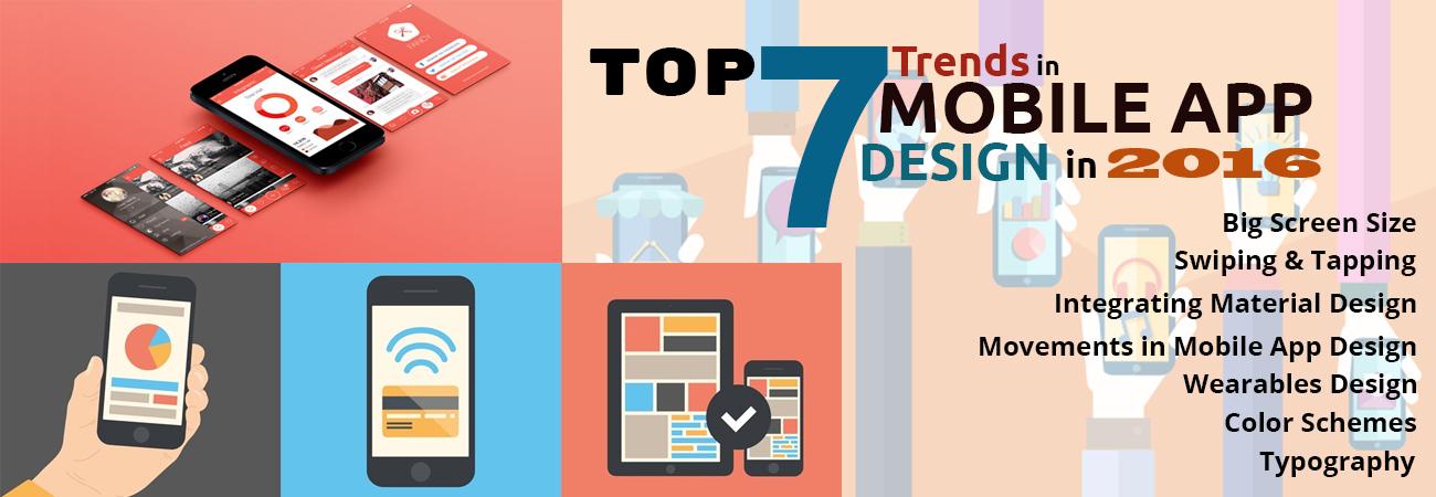 Top 7 Trends in Mobile App Design in 2016